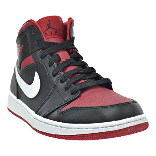 3b9f28d8c9ebf Jordan Air 1 Mid Men s Shoes Black Gym Red White 554724-020 (7.5 D(M) US)   Amazon.ca  Shoes   Handbags