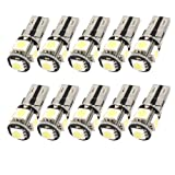 uxcell 10PCS Error Free Canbus W5W T10 5050 5-SMD LED White Light Bulb Lamp