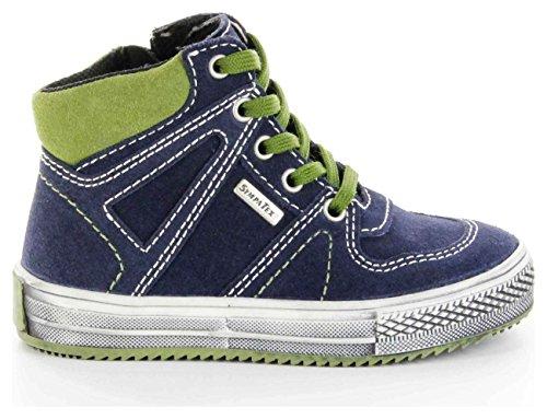 Richter Kinderschuhe Omero - zapatillas deportivas altas de cuero niños blau