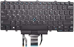 New Keyboard Replacement for Dell Latitude E7450 E5450 US Backlit Keyboard 0D19TR D19TR