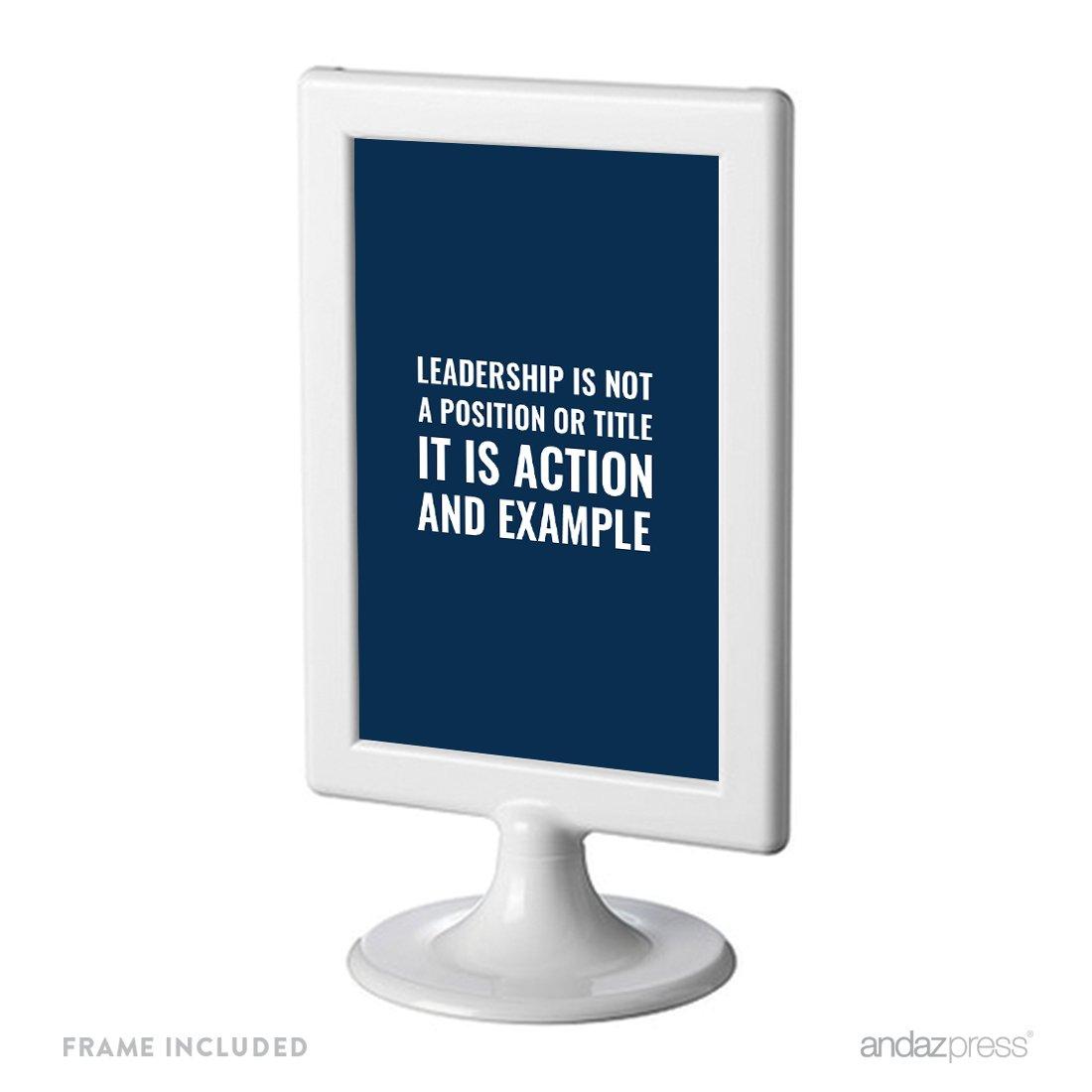Andaz Press Office Framed Desk Art, Leadership is