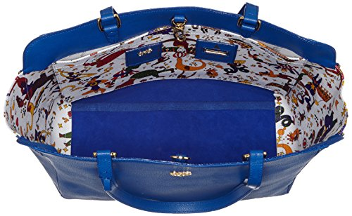 Piero Guidi Magic Circus Classic Leather Borsa Tote, 32 cm, Blu Cobalto