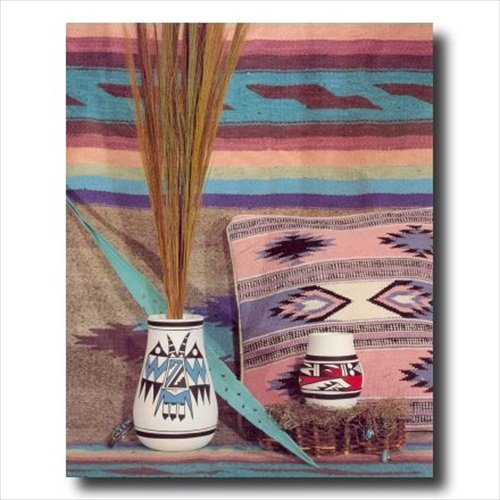 Southwestern Native American Indian Pottery Wall Picture Art Print - Pottery Native American Indian