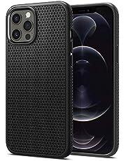 Spigen Liquid Air Fodral Kompatibel med iPhone 12 och kompatibel med iPhone 12 Pro -Matte Black