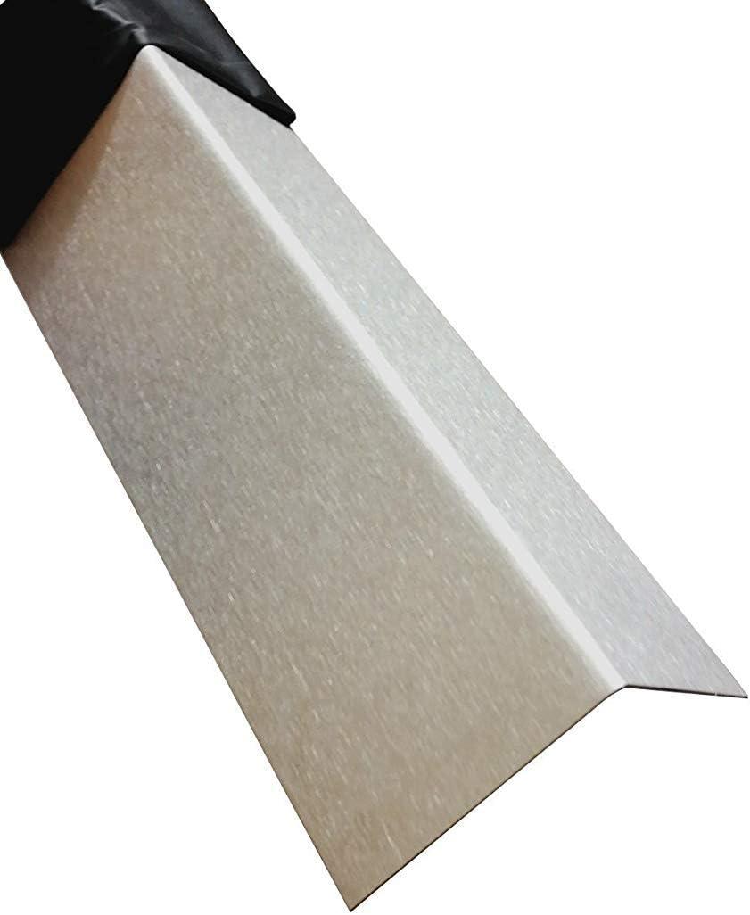 Edelstahl Winkelprofil 2000mm 60x50 mm Kornschliff 240 V2A 0,8mm stark Blechwinkel Eckschutz Leiste,L-Schiene 200cm Edelstahl L-Profil Schenkel 6x5 cm