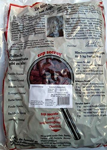 Top Secret Lockstoff-Konzentrat Aal 1kg und Raubfischpellets mit Blutextrakt