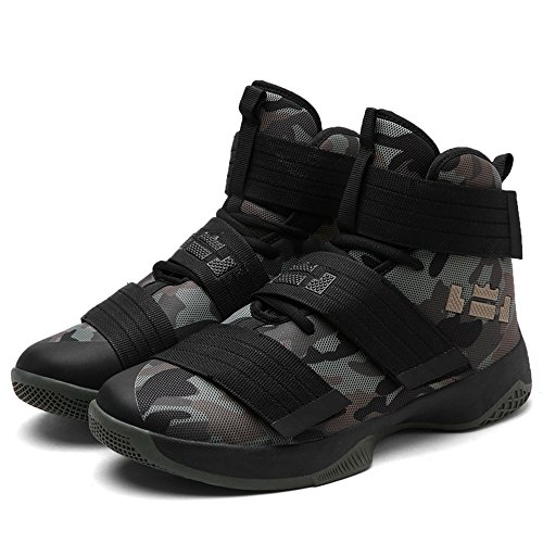 "Soldier""Camo"" Men's Shock Absorption Basketball Shoes (Camouflage, 6D(M)US-EU37)"
