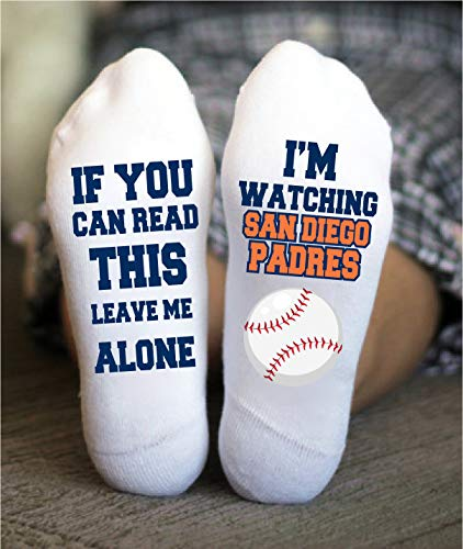 San Diego Padres Socks Funny Birthday Gifts Baseball Game (Diego San Crew)