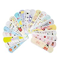 Adv-one 100 Count Cute Cartoon Breathable Bandages Pad/Water Resistant Hemostasis Adhesive First Aid for Kids Children