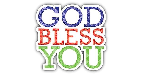 God Bless You Slogan Art Decor Vinyl Sticker Pegatina 12 x 12 cm ...
