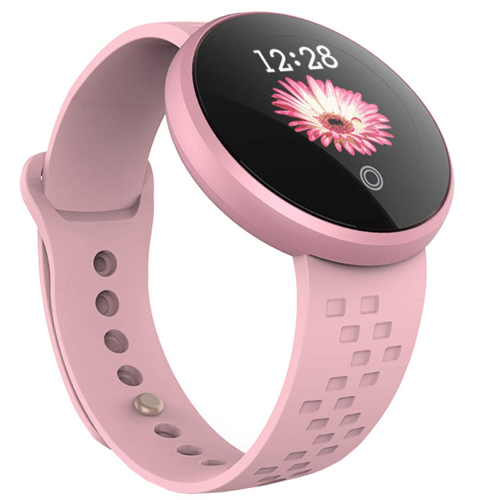 TADAMI Smart Wristbands Female Heart Rate Color Screen Physiological Period Reminds Fashion Smart Bracel (Pink) by TADAMI Blouse (Image #1)