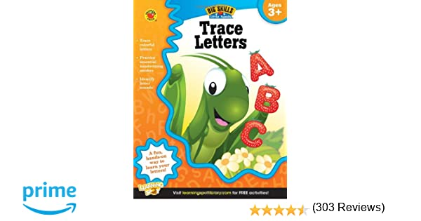 Workbook customizable handwriting worksheets : Amazon.com: Trace Letters, Ages 3 - 5 (Big Skills for Little Hands ...