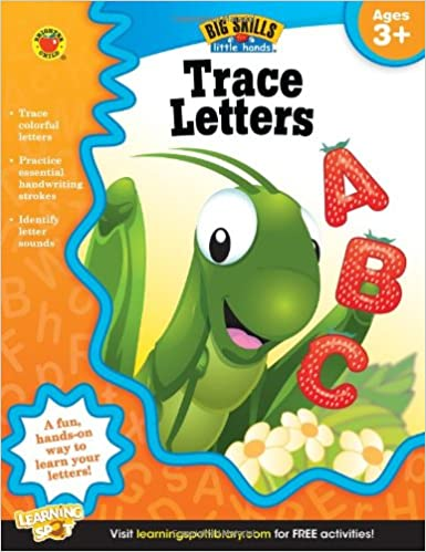 Counting Number worksheets letter trace worksheets : Amazon.com: Trace Letters, Ages 3 - 5 (Big Skills for Little Hands ...