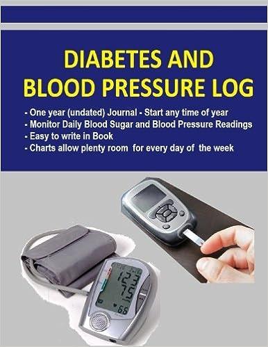 diabetes and blood pressure log diabetics can monitor blood sugar