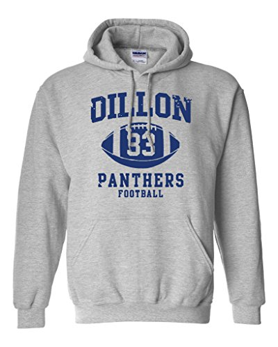 Dillon 33 Football Retro Sports Novelty DT Sweatshirt Hoodie (Medium, Sports Gray)