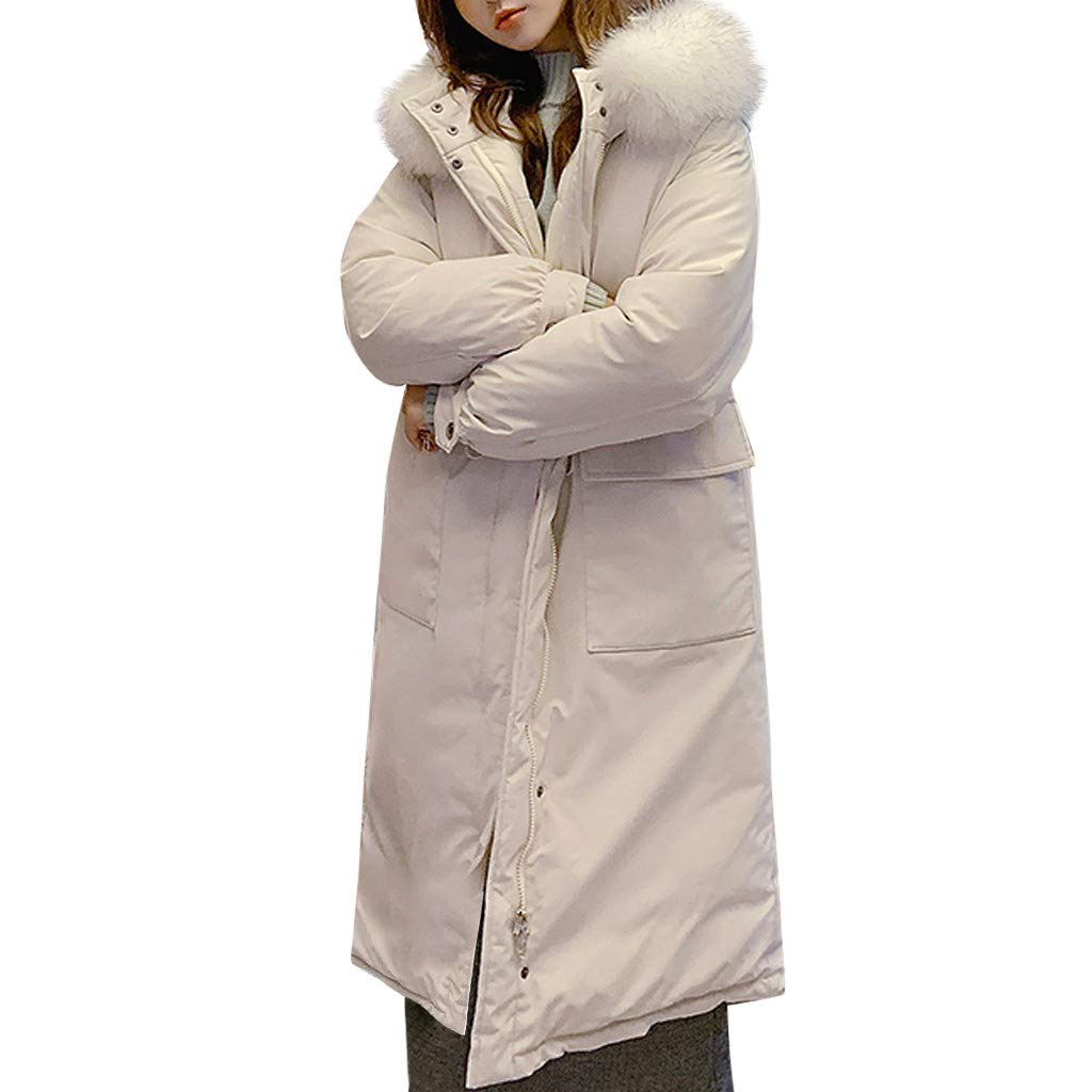 ZOMUSAR Winter Women Coat, Women Winter Warm Thick Outerwear Hooded Coat Slim Cotton-Padded Jacket M-XXL by ZOMUSAR
