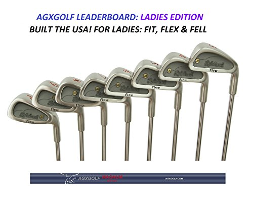 AGXGOLF Ladies Leaderboard All Ladies Flex Graphite Irons Set; 3,4,5,6,7,8,9 & PW: (Bag Not Included) Petite Regular; Fast Shipping! Built in USA!