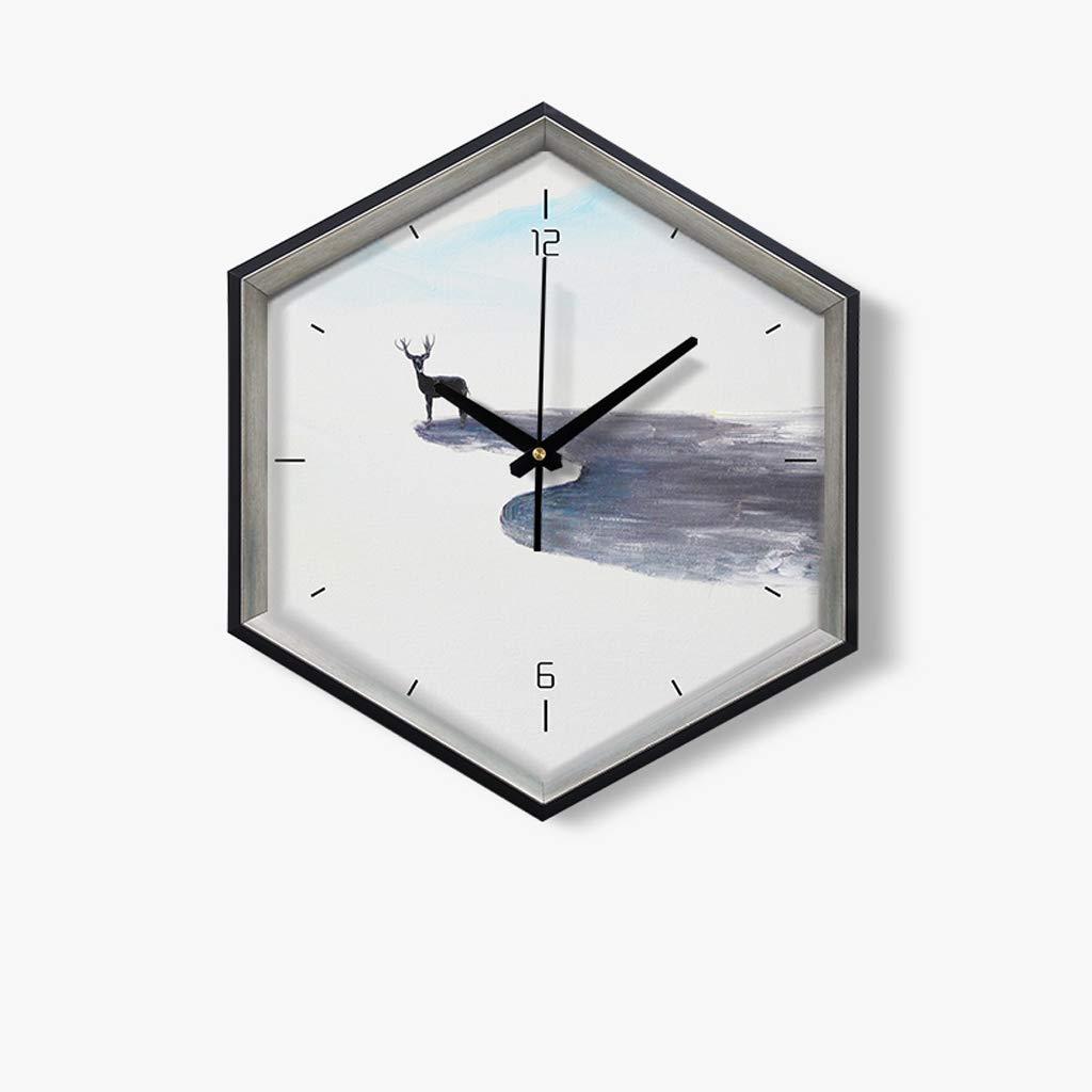 ウォールクロックリビングルーム家クリエイティブファッションクォーツ時計の景観芸術の寝室サイレントクロック、マルチカラーオプション JSFQ (Size : A) B07TKPW62J  A