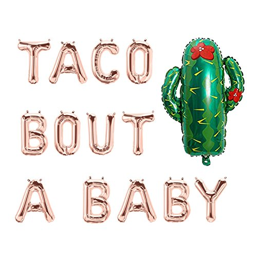 Maplelon Rose Gold Baby Shower Taco Bout A Baby Foil Balloon Letters Banner