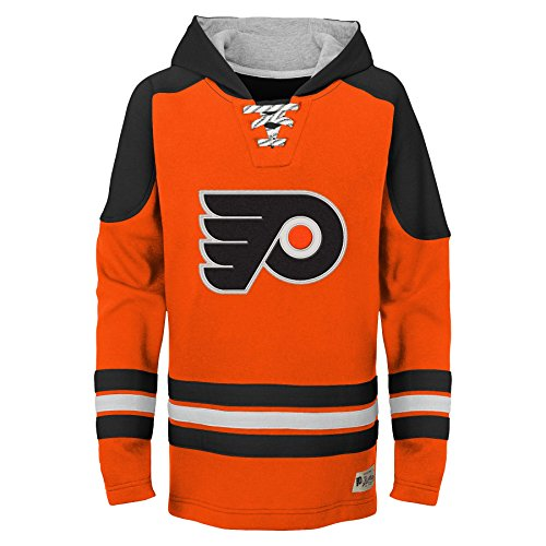 NHL Philadelphia Flyers Youth Boys Legendary Hoodie, Large(7), Varsity Orange
