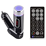 Belively TM Hands-free Car Kit MP3 Player Wireless FM Transmitter Modulator with USB/SD/Card Reader MMC Slot and Remote Control (FM-28B)