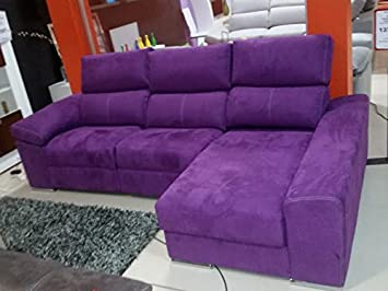 Zeus Sofa-Chaise Longue Tela Antimancha 2 Motores: Amazon.es ...