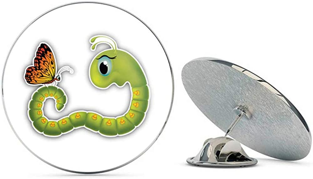 Amazon Com Leyland Designs Goggle Eyed Caterpillar Butterfly Cartoon Metal 0 75 Lapel Hat Pin Tie Shirt Backpack Tack Pinback Jewelry