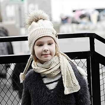 WSDMY Sombrero Gorra Sombreros y Bufanda para niñas Niños Invierno ...