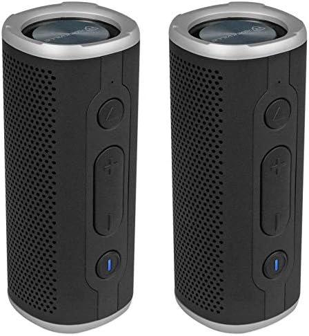 2 Rockville Rock Launcher BK Portable Waterproof Bluetooth Speakers w TWS