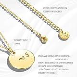 MEVECCO Gold Initial Pendant Necklaces,14K Gold