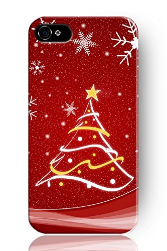 MERRY CHRISTMAS-SUPER XMAS GIFT FESTIVE PRINT PHONE COVER CASE-XMAS TREE AND SNOWFLAKE,SPRAWL Original New Print Hard Skin Case Cover Shell for mobilephone Apple Iphone 5 5S, Interesting Fashion Design