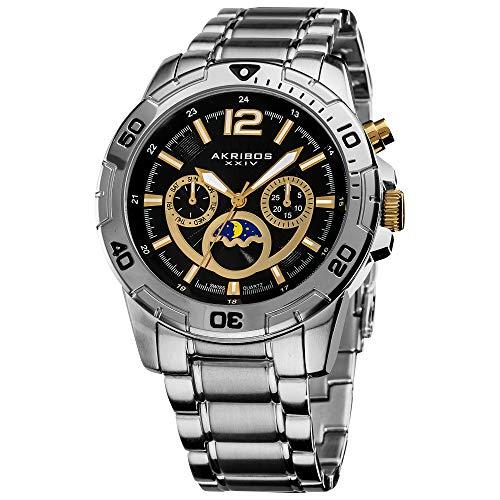 Akribos XXIV Men s AK574SS Conqueror Swiss Quartz Divers Multi-function Watch