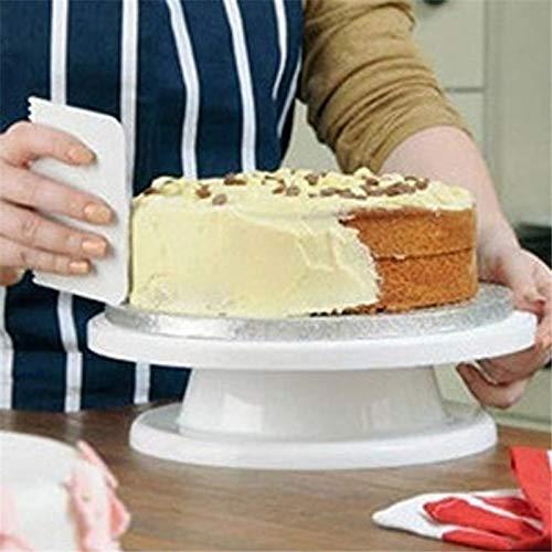 STORE-HOMER - Cake Base Cake Decorating Tools Rotating Cake Stand Sugar Craft Turntable Platform Cupcake Swivel Plate Revolving Baking -
