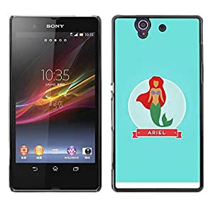 Estuche Cubierta Shell Smartphone estuche protector duro para el teléfono móvil Caso Sony Xperia Z L36H C6602 C6603 C6606 C6616 / CECELL Phone case / / Babe Mermaid Princess Sea Sail