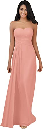 Alicepub Halter Chiffon Bridesmaid Dresses Long Formal Party Dress for Women Special Occasion