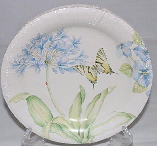 Lenox Butterfly Meadow Blue 16 Coated Luncheon / Dessert Plates ()