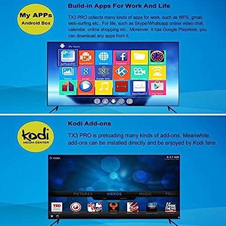 Oranth TX3 Pro Smart TV Box 4K UHD Android Quad Core 1GB+8GB Kodi WiFi Black: Amazon.es: Electrónica