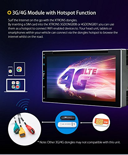 XTRONS 6.95 Inch Android 8.0 Octa Core 4G RAM 32G ROM HD Digital Multi-touch Screen Car Stereo DVD GPS Radio OBD2 Wifi DVR TPMS Double 2 Din by XTRONS (Image #5)