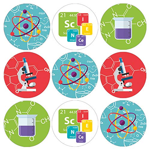 Science Party Favor Labels | 180 Stickers