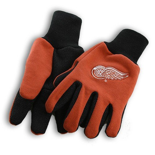 Detroit Red Wings Sport Utility Gloves, Red