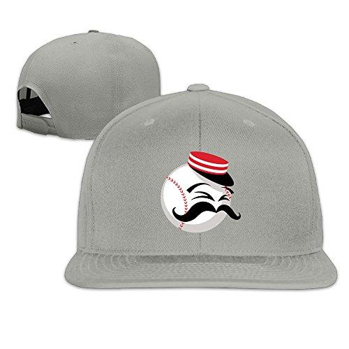 Kim Lennon Cincinty Reds Baseball Custom Sun Protection Flat Brim Baseball Hats Caps Ash