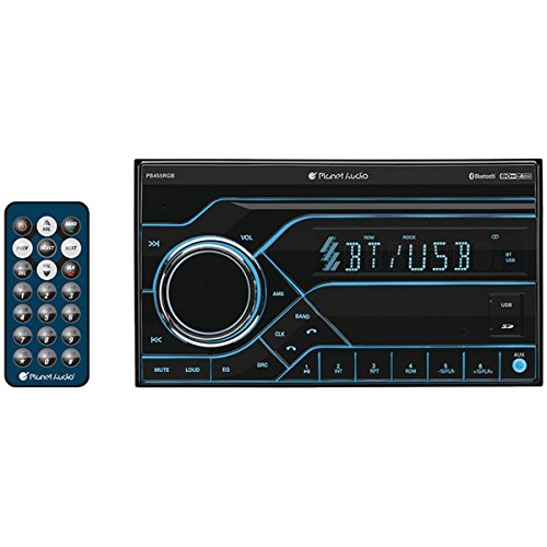 Planet Audio PB455RGB Double Din, Bluetooth, MP3/USB/SD AM/FM Car Stereo, (No CD/DVD) Wireless - Gift Card Planet