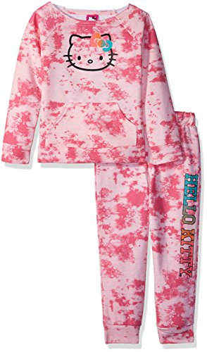 Hello Kitty Toddler Girls' Jogger Pant Set with Crew Neck Top, Pink, 3T