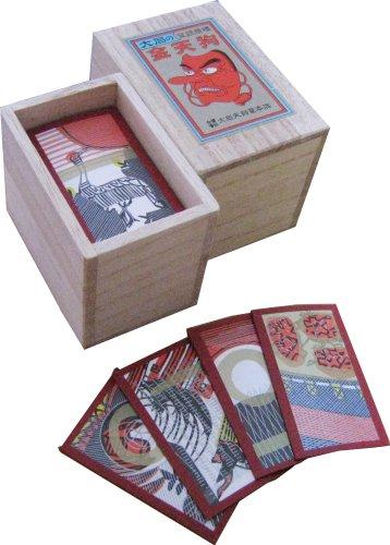 Japanese Playing Cards Game Hanafuda Echigo Flower Red Paulownia Box