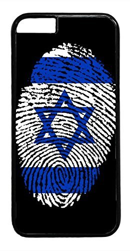 THE FORTRESS Premium cases -Israel Flag in Finger Print David Star rubber Plastic Black Case Cover for NEW iPod 6 6th Gen by FOR8 (4.7 inch)The perfect blend of minimalism and shock absorbtion ()