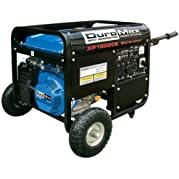 DuroMax XP10000E-CA 10,000 Watt 16 HP OHV 4-Cycle Gas Powered Portable Generator With Wheel Kit And Electric Start...