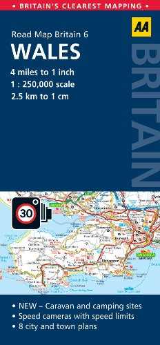 Road Map Britain: Wales (Aa Road Map Britain Series)