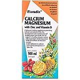 Floradix Saludynam Liquid Calcium, Magnesium, Zinc and Vitamin D Formula 500 ml, 500 milliliters