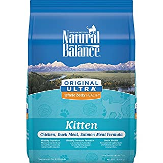 Natural Balance Original Ultra Whole Body Health Kitten Dry Cat Food, Chicken, Duck Meal & Salmon Meal Formula, 2 Pounds