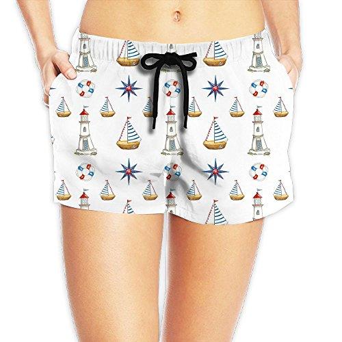 Fender Vent Grill (Women's Lifebuoy Boat Pattern Low Waist Summer Swimming Beach Board Shorts Fashion Gym Mini Shorts For Women)